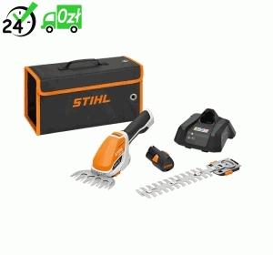 HSA 26, Lekkie nożyce akumulatorowe do żywopłotu, zestaw z akumulatorem AS 2 i ładowarką AL 1