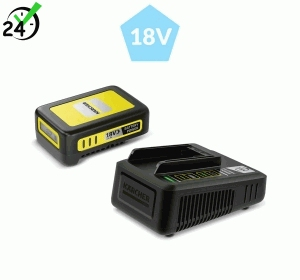 Szybka ładowarka + bateria 18 V / 2.5 Ah do urządzeń akumulatorowych Karcher