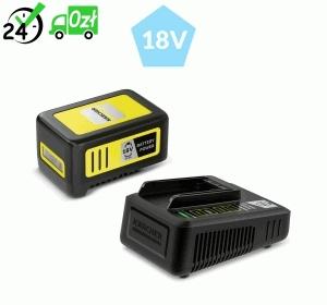 Szybka ładowarka + bateria 18 V / 5 Ah do urządzeń akumulatorowych Karcher