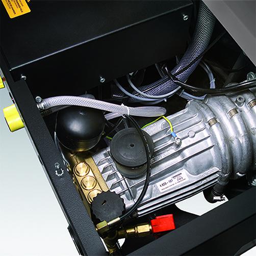 HDS 9/14-4 ST: Chłodzony wodą, 4-biegunowy, wolnoobrotowy, trójfazowy silnik elektryczny